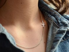 Unique sideways CROSS necklace...love it! Cross Necklace Sideways, Sideways Cross, Arrow Necklace, Unique, Jewelry, Products, Jewlery, Jewels, Jewerly