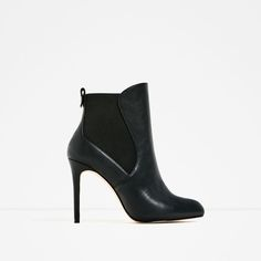 ZARA - WOMAN - HIGH HEEL ANKLE BOOTS WITH ELASTIC