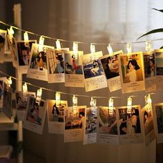 1.2M 10 LEDs Card Photo Clip String Light 50000 Hours Lifespan Powered by USB / 2*AA batteries (Not