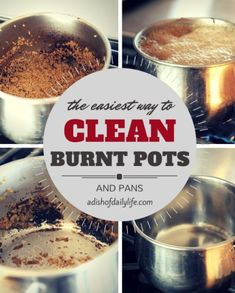 Clean Burnt Pots and Pans In Minutes