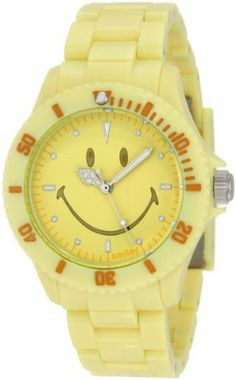 """Smiley """"Happy Time"""" Women's WGS-PPYV01 Pretty Pastel Yellow Analogue Watch Smiley """"Happy Time"""". $56.51. 12 Month Warranty. 165ft Water Resistant. Reliable Japanese Quartz Movement. Manufactured by Wave-Gear. Original Smiley Design. Save 41%!"""