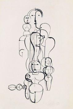 Artworks by Oskar Schlemmer Title: Oskar Schlemmer Folkert