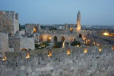 Jerusalem, Israel, in the evening...We Love You Israel