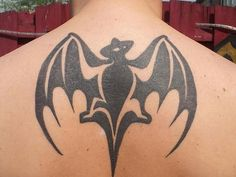 Tribal Design Batman Tattoo For Guys