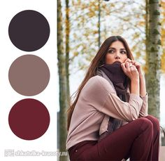 Designer Clothes, Shoes & Bags for Women Style Casual, Cool Style, My Style, Color Combinations For Clothes, Color Combos, Burgundy Pants, Brown Pants, Negin Mirsalehi, Color Balance