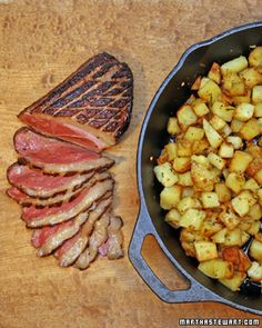 Marinated Duck Breast with Sauteed Potatoes - Martha Stewart Recipes