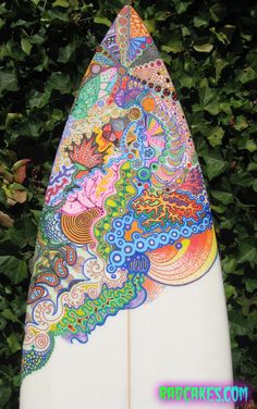 Custom surfboard art by RadCakes.com