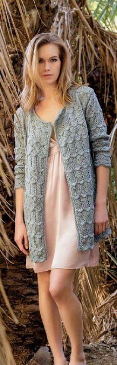 Filati Lana Grossa Knit Jacket, Knit Cardigan, Knitting Patterns, Crochet Patterns, Gilets, Knit Or Crochet, Crochet Designs, Knits, Knitwear