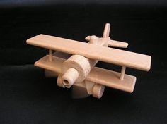 wooden-biplane