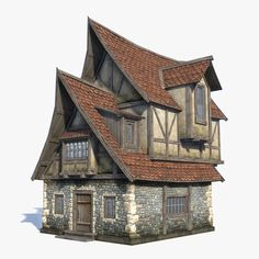 Stock game low-poly 3d-model of fantasy / medieval house http://www.turbosquid.com/FullPreview/Index.cfm/ID/1057484?referral=Sergey_Ryzhkov