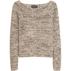Sonia Rykiel Wool and cashmere-blend sweater (240 BAM) ❤ liked on Polyvore featuring tops, sweaters, shirts, jumpers, neutral, cashmere blend sweater, short sleeve shirts, slim fit sweater, short sleeve tops and short shirts