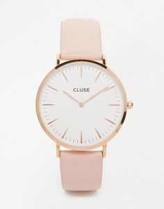 Cluse La Boheme Rose Gold & Pink Leather Watch CL18014