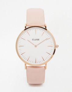 Cluse - La Boheme CL18014 - Montre en cuir - Or rose et rose