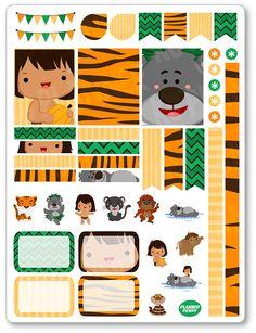 Amigos de la selva decoración Kit / extensión por PlannerPenny
