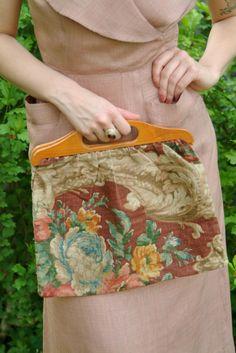 1940s Knitting Bag