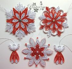 Quilled snowflakes by pinterzsu on DeviantArt Paper Quilling Cards, Paper Quilling Flowers, Paper Quilling Designs, Quilling Patterns, Quilling Art, Snowflake Craft, Snowflakes, Quilling Instructions, Paper Art