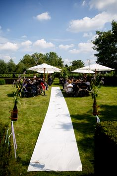 Buiten bruiloft Domaine d'Heerstaayen