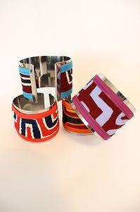 #Tribal Print #Silver Tone #Cuff Bangle #Bracelet  #Boho Bohemian