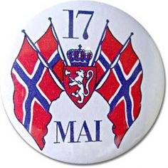 For Norway's Constitution day, the of May. Pin on your pride with this 17 Mai button. Sons Of Norway, Constitution Day, Norse Vikings, My Ancestors, Scandinavian Style, Diy And Crafts, Pride, My Love, Button