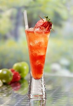 Strawberry Wimbledon Cocktail - Tall cocktail recipes: Refreshing alcoholic drinks - Inspired by that great British tennis institution Wimbledon and its love of strawberries, Bottlegreen's Strawberry Wimbledon is a classy vodka cocktail. Just remember it...