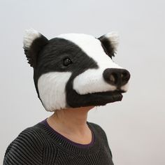 Badger mask | Puppets and masks by Anna Granberg
