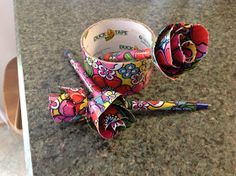 MOPS Beautiful Mess 2013: Duct Tape Rose: A MOPS craft review