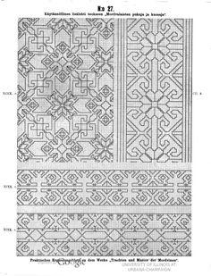 Käytännöllisiä lisälehtiä teokseen Mordvalaisten pukuja ja kuoseja - Praktische Ergänzungsblätter zu dem Werke Trachten und Muster der Mordvinen - (55 of 97) (No 27 of No 45)