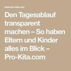 Den Tagesablauf transparent machen – So haben Eltern und Kinder alles im Blick – Pro-Kita.com