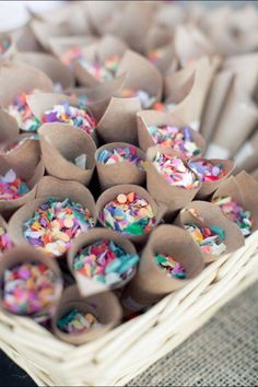 Spring Wedding Trends Give your guests confetti, sprinkles, or glitter. to throw instead of rice - - definitely want confetti or glitter or both for my wedding. Wedding Wishes, Wedding Bells, Diy Wedding, Dream Wedding, Wedding Day, Wedding Favors, Rustic Wedding, Wedding Summer, Garden Wedding