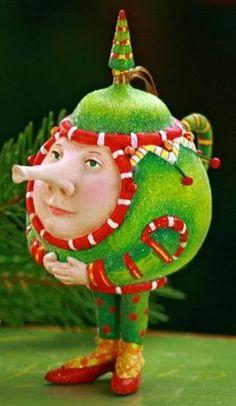 Patience Brewster Krinkles **Teapot Ornament**