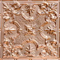 """Fond Du Lac - Solid Copper Ceiling Tile - 24""""x24"""" - #2443"""