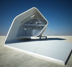 The California Roll House is a futuristic concept design for a prefabricated house that Christopher Daniel of Violent Volumes has created.