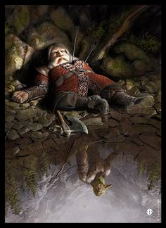 ~ The Death Of Balin ~ The Hobbit illustration By David Gaillet