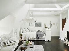 Attic apartment in Stockholm, Sweden