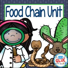 Food Chains from A Dab of Glue Will Do on TeachersNotebook.com -  (72 pages)  - Food Chain: Food Chain Unit! This document allows your class to have a hands-on experience learning the food chain for six different habitats.