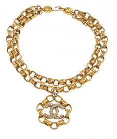 VINTAGE CHANEL DOUBLE CHAIN NECKLACE