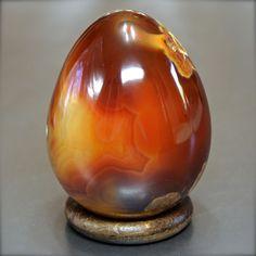 Minerali, Corniola, uovo egg, Brasile 62mm