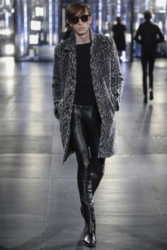 See the Saint Laurent autumn/winter 2015 menswear collection. Great coat - the pants ... Not so much