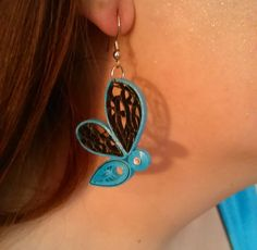 Quilling Blue Bug earrings by SylphineCreations on Etsy Paper Quilling Earrings, Origami And Quilling, Quilling Paper Craft, Quilling Patterns, Quilling Designs, Quilling Ideas, Quilling Techniques, Quilling Tutorial, Paper Jewelry