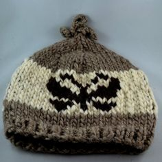 Cowichan Coast Salish Butterfly Adult toque. Handmade by a local Cowichan Tribes member.