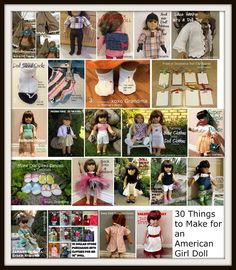 xoxo Grandma: 30 Things to Make for an American Girl Doll - Free Patterns & Tutorials
