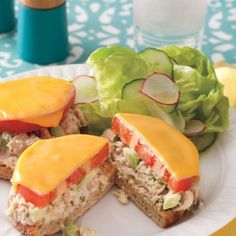 Spicy Tuna and Avocado Melts Spicy Tuna and Avocado Melts is a delicious take on a traditional tuna melt. This quick sandwich is easy to make for lunch or serve the… Canned Tuna Recipes, Fish Recipes, Seafood Recipes, Cooking Recipes, Canned Chicken, Cooking Food, Meat Recipes, Recipies, 30 Minute Meals