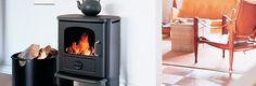 Morsø 3112 wood stove: a radiant stove that can heat up to 1200 sq ft of living space. Available from Rich's for the Home http://www.richshome.com/