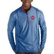 #NBAStore.com - #NBAStore.com Men's Detroit Pistons Antigua Royal Tempo Half-Zip Pullover Jacket - AdoreWe.com