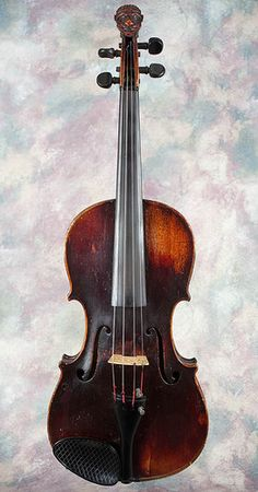 Wish I could buy this....    GARGOYLE Carved Head Violin 4/4 Guarnerius Label - one piece back, one piece top