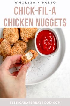 If you love the juicy, tender, flavourful chicken nuggets at Chick-Fil-A, these Whole30 Chicken Nuggets are going to blow your mind! Soaked in pickle juice and coated in a crispy, delicious whole30 + paleo coating, they are exactly what you need in your comfort food life. Paleo Chicken Recipes, Chicken Flavors, Whole30 Recipes, Dairy Free Recipes, Whole Food Recipes, Gluten Free, Paleo Freezer Meals, Paleo Meal Prep, Easy Healthy Dinners