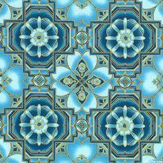 La Scala 7 - Cathedral Mosaic - Turquoise/Gold