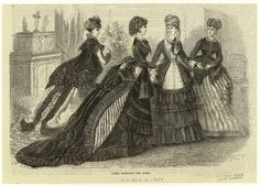 April fashions, 1869 England, the Illustrated London News