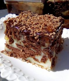 Greek Sweets, Greek Desserts, Easy Desserts, Greek Recipes, Chocolate Sweets, Chocolate Recipes, Sweets Recipes, Candy Recipes, Greek Cake