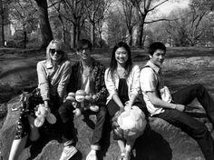 Dianna Agron, Kevin McHale, Jenna Ushkowitz & Harry Shum Jr